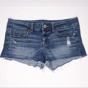 American Eagle AEO Denim Distressed Shorts